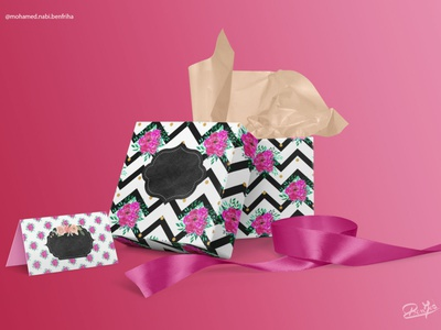 Gift branding design illustration graphic design color paper pattren planner print gift