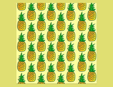 Pineapple illustration pattern