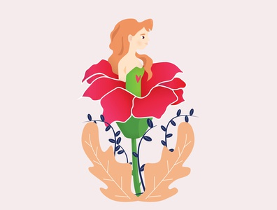 Rose Girl illustration