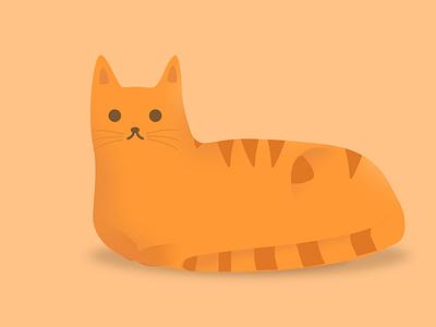 Orange Cat photoshopartwork vector kawaii cute orange cartoon illustrations cat illustration logo digitalart design photoshop