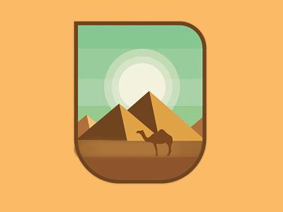 The Pyramids pattern photoshop imagine manipulation art direction artwork artist illustration art illustrator poster design sticker stickers mascot vector pyramids illustration