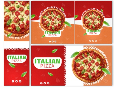 Pizza web banners