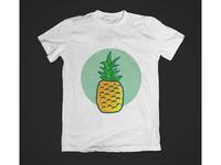 pineapple Illustration t-shirt