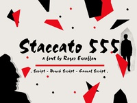 Staccato 555 - a font by Roger Excoffon
