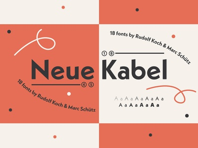 Neue Kabel - Typeface by Rudolf Koch & Marc Schütz contemporary bauhaus modern spring kabel neue typo typeface font