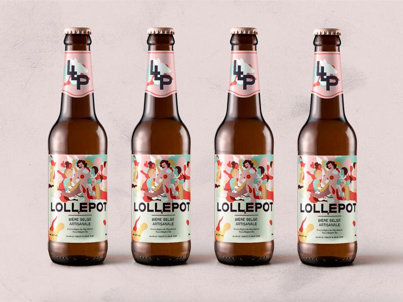 Lollepot - Brasserie des Biches - Packaging illustration bold font illustration art belgium lgbtq queer logo beer branding beer bottle packaging beer