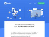 Twist Landingpage: Now in beta