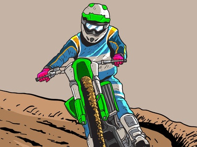 Dirt Bikes Trail Vector