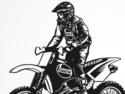 Motocross black and white