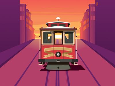 San Francisco Tram vector art vecteezy tram drive san francisco transportation city transport