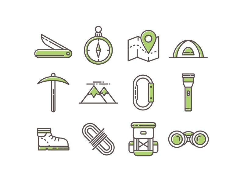 33   camping icons