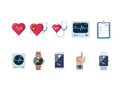 Heart Monitoring cardiac medical cardio cardiogram ekg beat health device monitor heart
