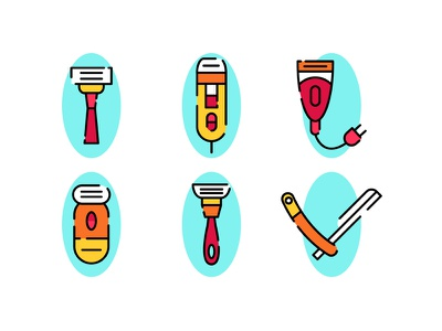 Shaver razor beard hair hygiene face shaver icons icon