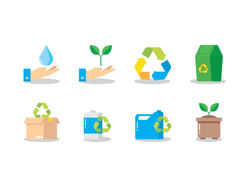 Recycling trash green leaf water ecology renewable recycle biodegradable