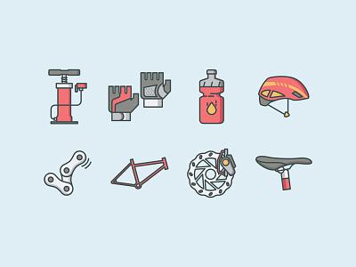 Bicycle Equipment parts bike brake gloves helmet bottle water chain air pump bicycle