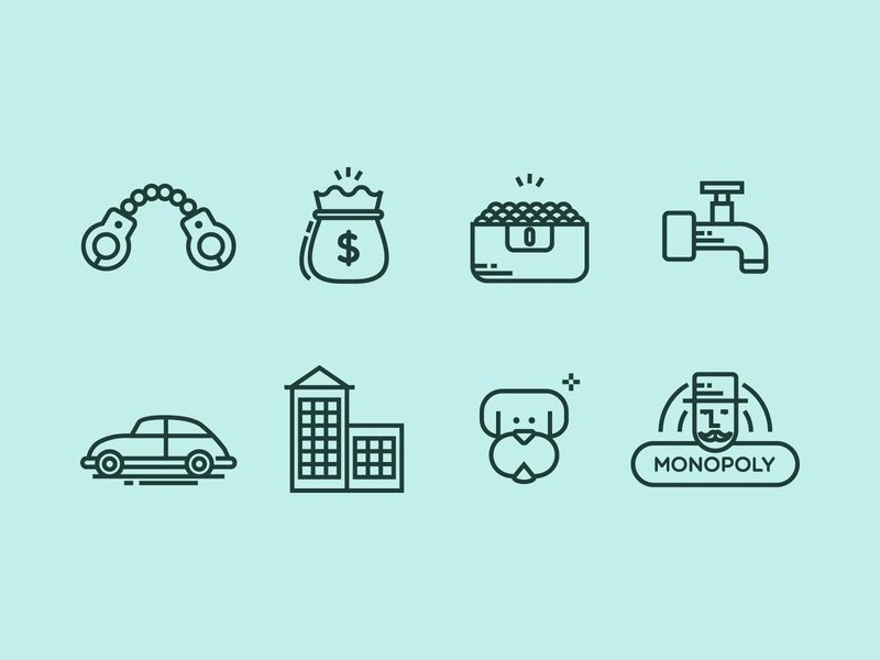 monopoly icons by vecteezy dribbble
