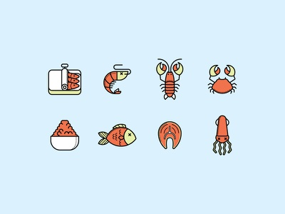 Seafood food fillet meal tuna seafood caviar oyster crab squid lobster fish sardine
