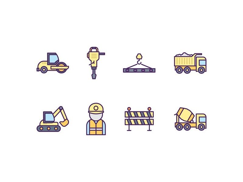 Construction Icons by Vecteezy