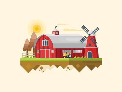 Barn farmer landscape rural agriculture farming barn farm