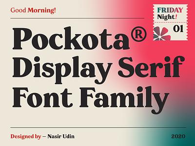 Pockota - Retro Display Serif Family font download typeface branding vintage poster typography retro font