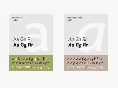 Proda Sans Specimen free font poster branding free fonts type typeface typography