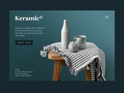 Keramic Web Experiment website concept font retro ui branding commerce furniture ceramic brand logo typeface website webdesign