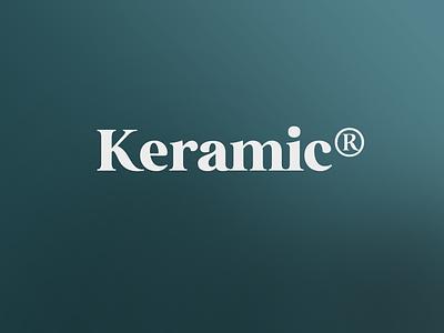 Keramic Logo logotypes serif font beauty ceramic typeface design typeface font typography design logo branding