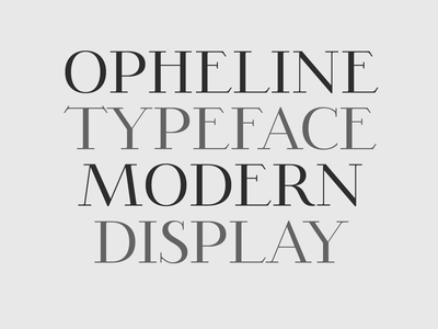 OPHELINE - Modern Serif Family branding logo clean sexy thin font beautiful font modern editorial advertising font download typeface typography font