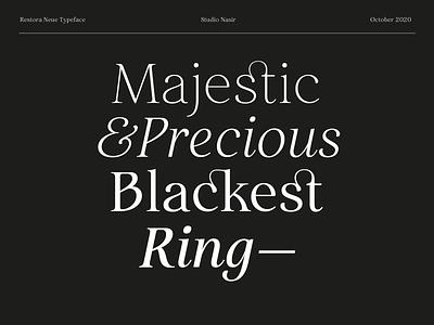 Restora Neue Type Specimen specimen typeface serif typography font design serif font download font