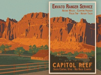 Capitol Reef Utah Travel Poster