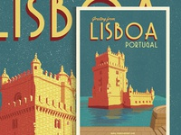 Lisboa Travel Poster for Sale