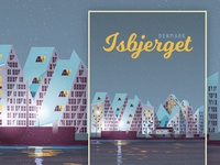 Isbjerget Denmark Travel Poster