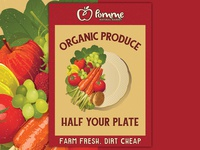 Pomme Organic Produce Poster