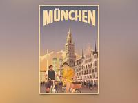München Travel Poster