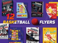 Basketball Match Flyers
