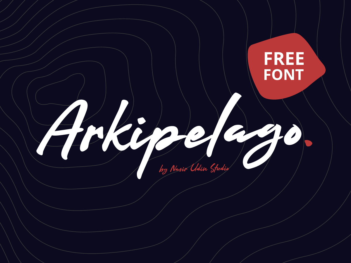 FREE FONT - Arkipelago Brush Script lettering typography free font font download type design signature fonts imperfect branding logo fonts handwriting