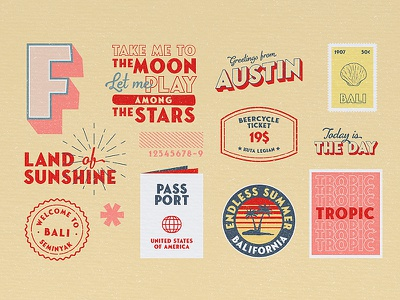 Playing with Fonseca Grande Font branding design typography posters postcards classic illustration travel branding free font vintage retro badges
