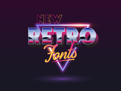 New Retro Fonts 3d font layered fonts typeface font download classic synthwave badge font typography vintage retro