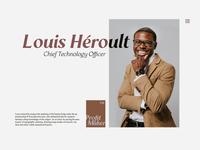 Profile Page branding serif fonts typeface typography webpage profile website webdesign uiux ui