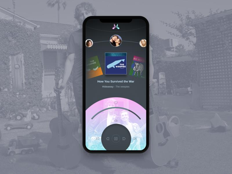 Music App navigation inspiration music logo design brand ux app ui