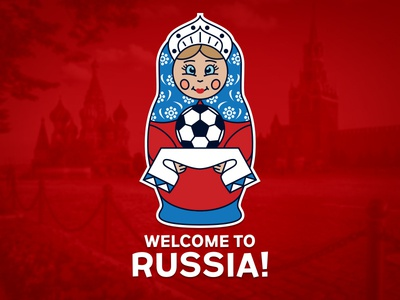 Graphic work «Russia 2018»