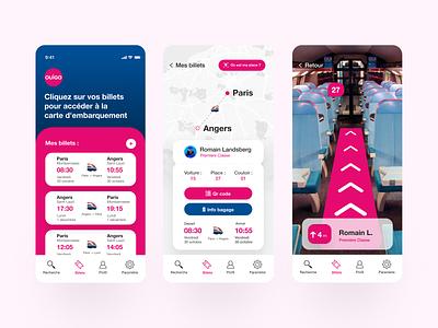 Daily UI 7 - Ouigo Redesign sncf train ouigo dailyui mobile ui challenge design app user interface daily ui branding