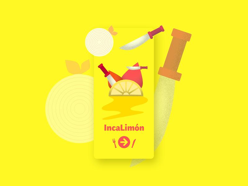 Peruvian Food App Cover app food app yellow ceviche adobe xd cover comida food peru peruvian ux ui uxui