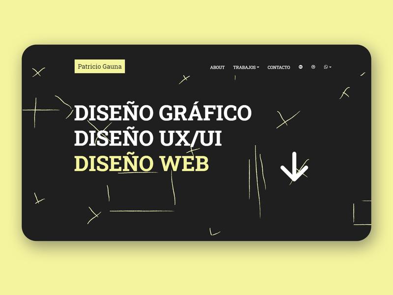 Portfolio Web UI portfolio sublimetext css3 yellow black web html5 uxui ux ui