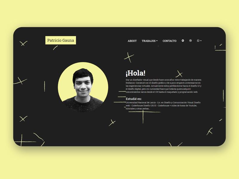 Portfolio Web UI portfolio sublimetext yellow css3 black web html5 uxui ux ui