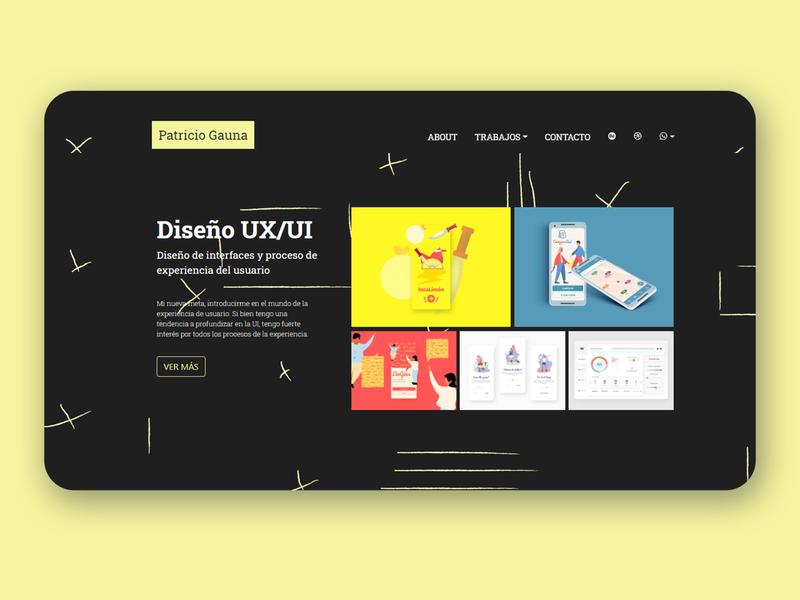 Portfolio Web UI yellow sublimetext css3 black portfolio web html5 uxui ui