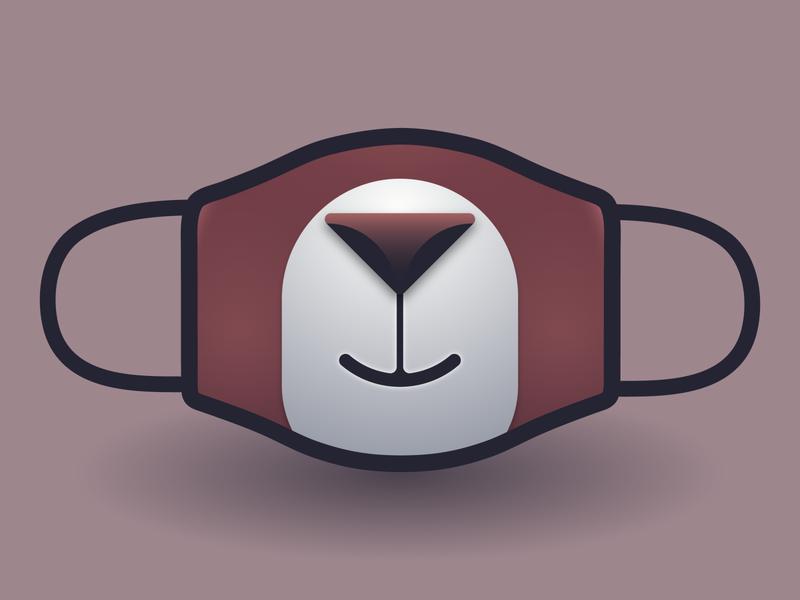 Bear Mask challange virus coronavirus corona mask bear animal illustration vector logo branding design