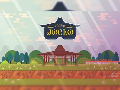 Background game Joglo rumah adat logo joglo lanscape virtual reality background game background