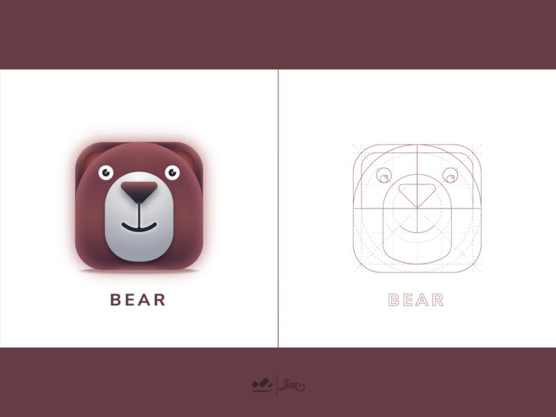 App Icon : Bear logo love icon apps 3d app logo 3d logo design web icon app ux ui logo design beer app icon logo app logo
