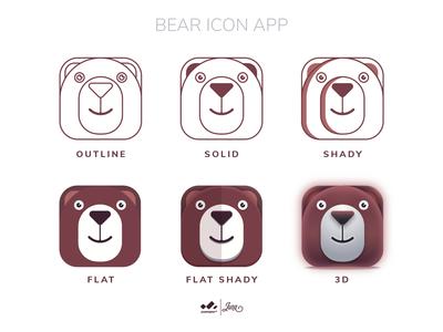 App Icon : Bear logo variation ios application logo design app icon logodesign website minimal icon web app flat design logo ui ux